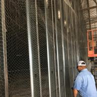 Installing Wire Mesh Inside of Wall.